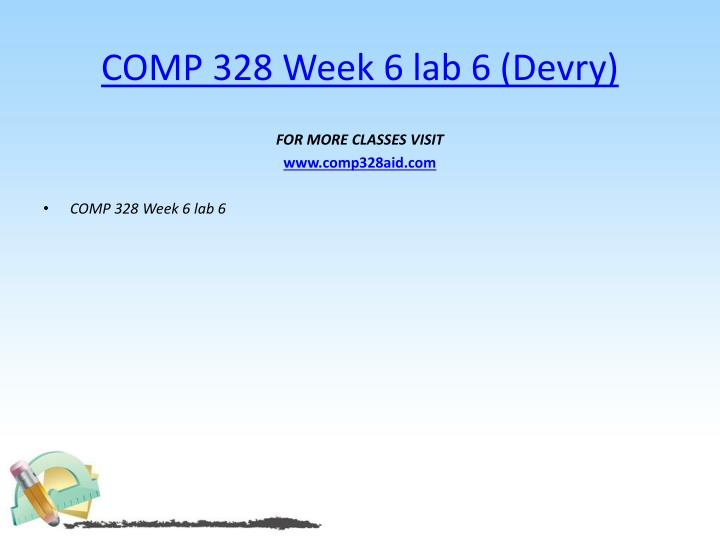 COMP 328 Week 6 lab 6 (