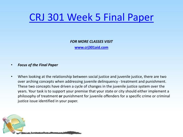 CRJ 301 Week 5 Final Paper
