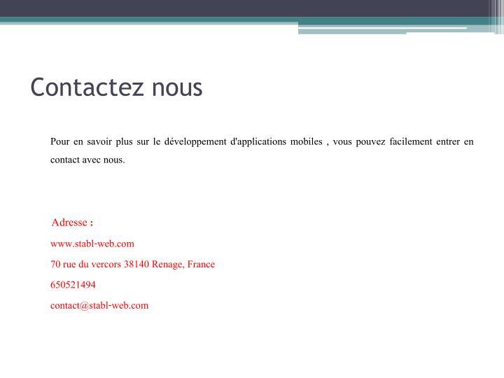 Contactez