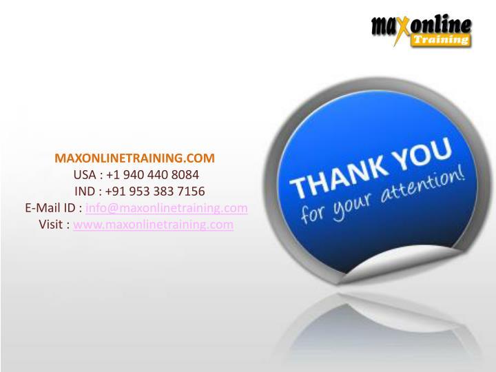 MAXONLINETRAINING.COM