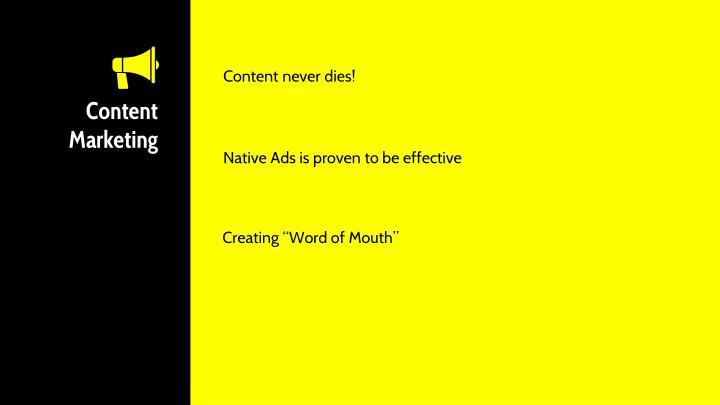 Content never dies!