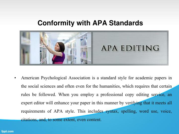 Apa standards of professional writing to your research paper