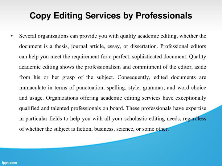 Best copy editing service