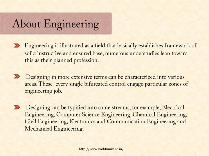 About engineering