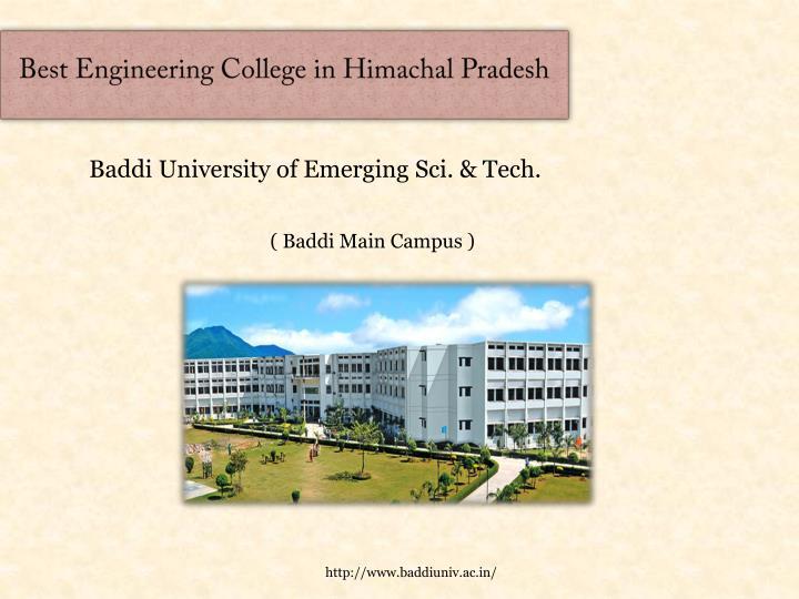 Best Engineering College in Himacha
