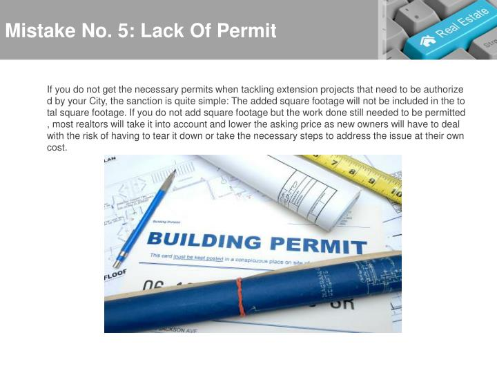 Mistake No. 5: Lack Of Permit