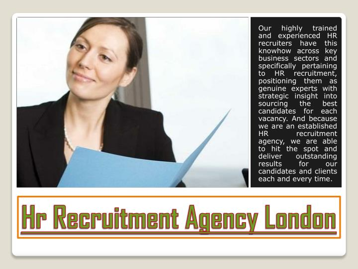 hr recruitment agency london