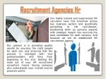 recruitment agencies hr
