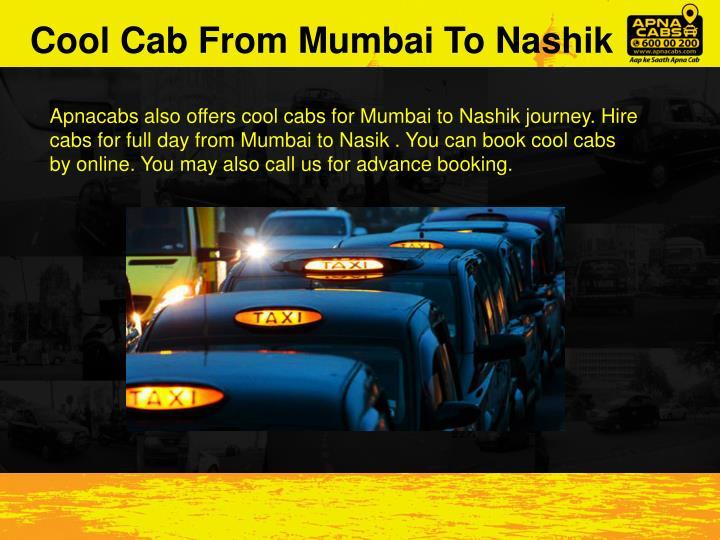 Cool Cab From Mumbai To Nashik