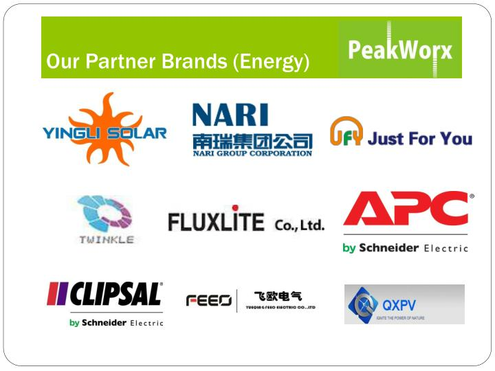 Our Partner Brands (Energy)