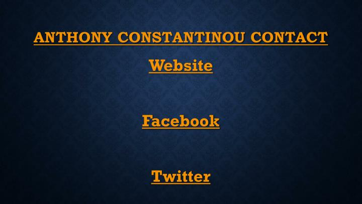ANTHONY CONSTANTINOU CONTACT