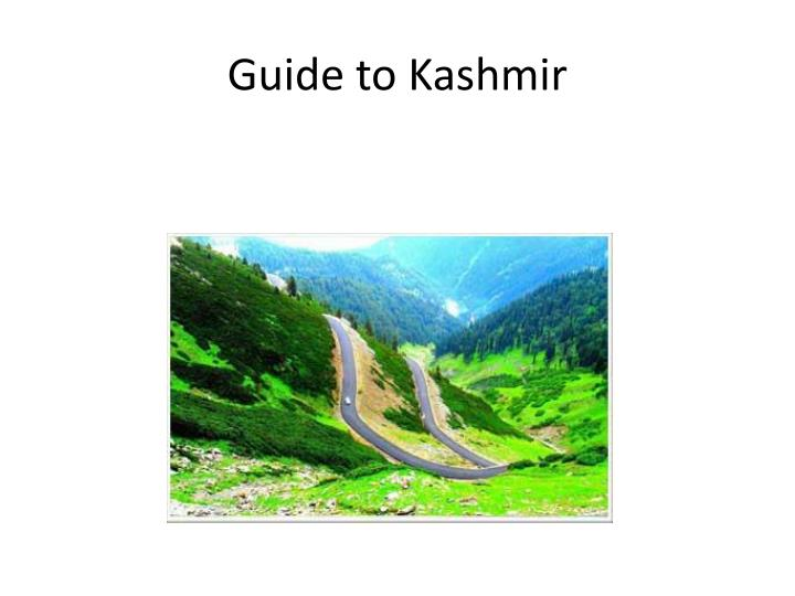 Guide to Kashmir