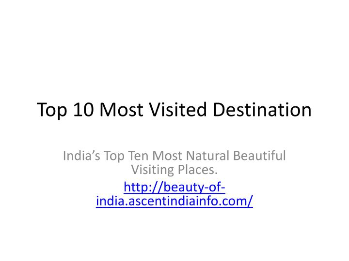 top 10 most visited destination