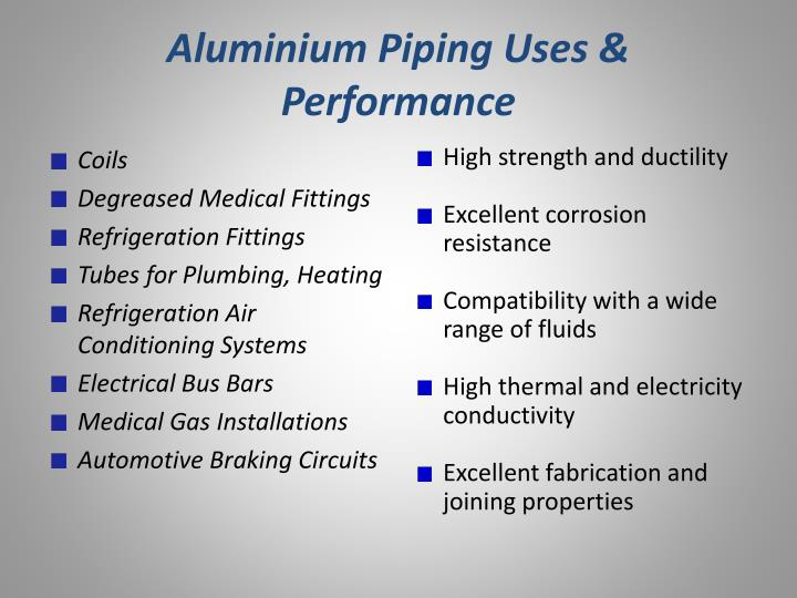 Aluminium Piping Uses & Performance
