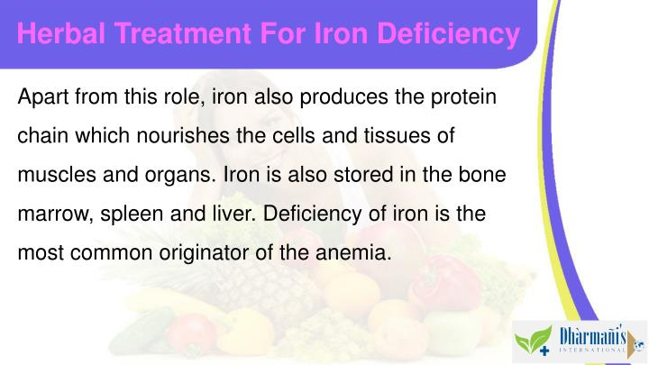 Herbal treatment for iron deficiency1