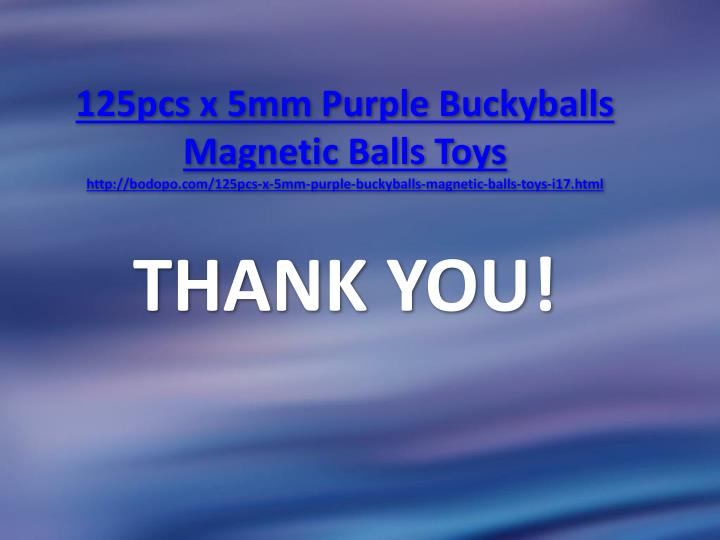 125pcs x 5mm Purple Buckyballs Magnetic Balls Toys