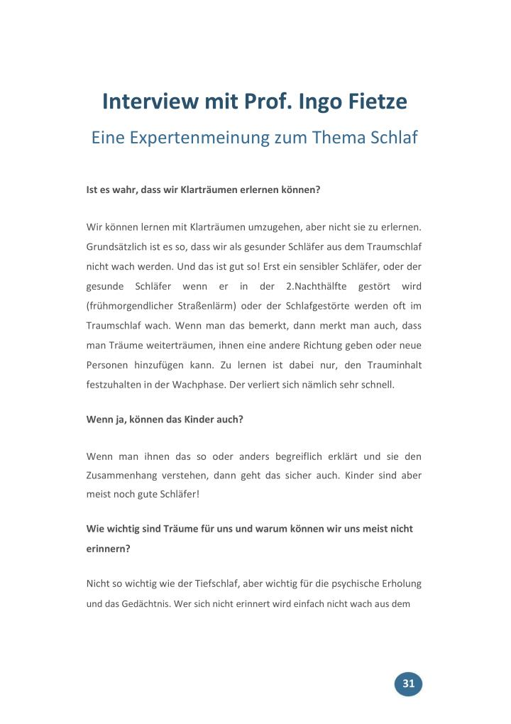 Interview mit Prof. Ingo Fietze