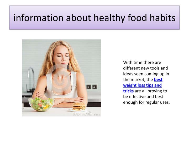 information about healthy food habits