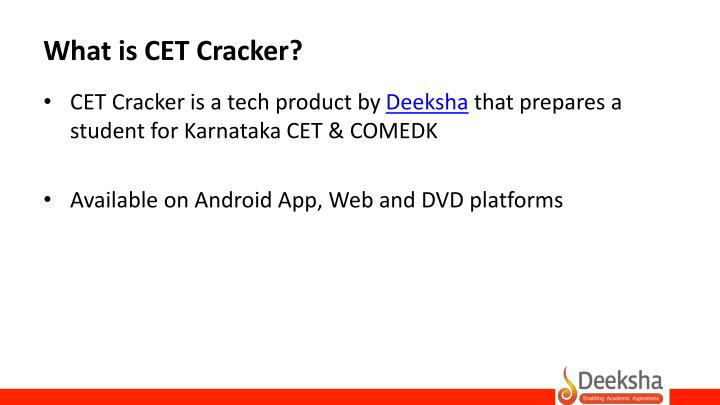 What is CET Cracker?
