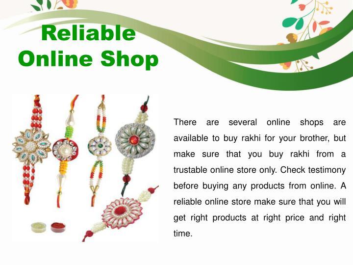 Reliable Online Shop
