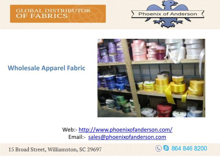 Wholesale Apparel Fabric