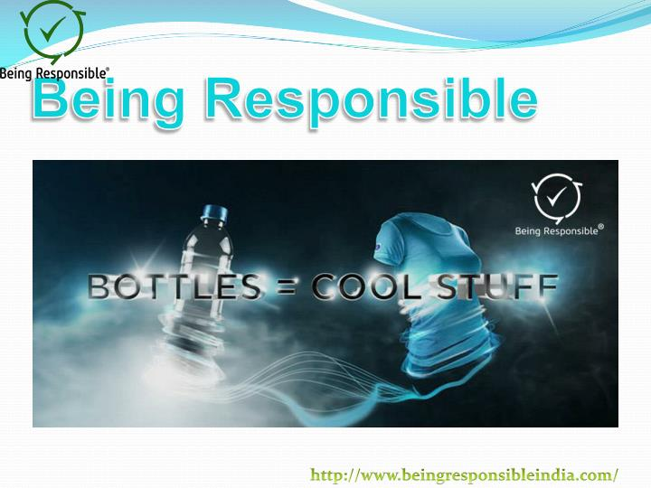 Being responsible2