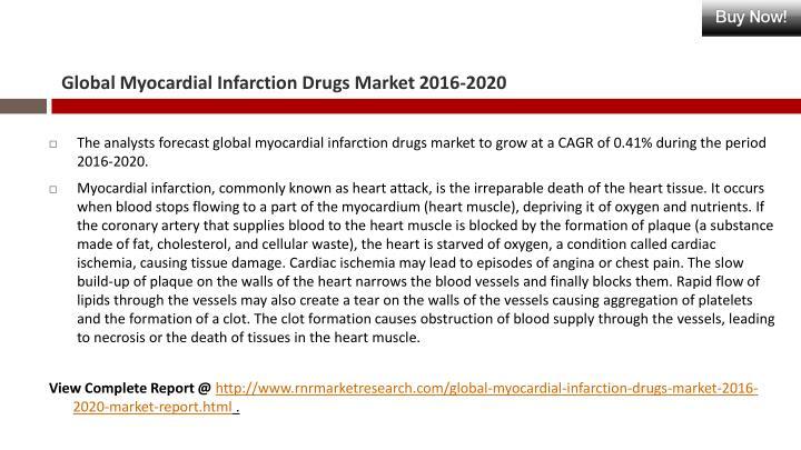 Global Myocardial Infarction Drugs Market 2016-2020