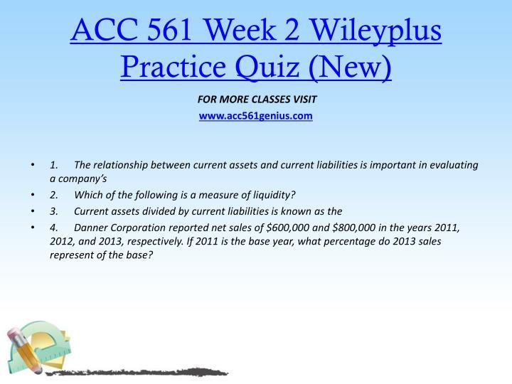 ACC 561 Week 2