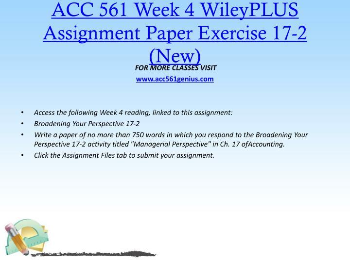 ACC 561 Week 4