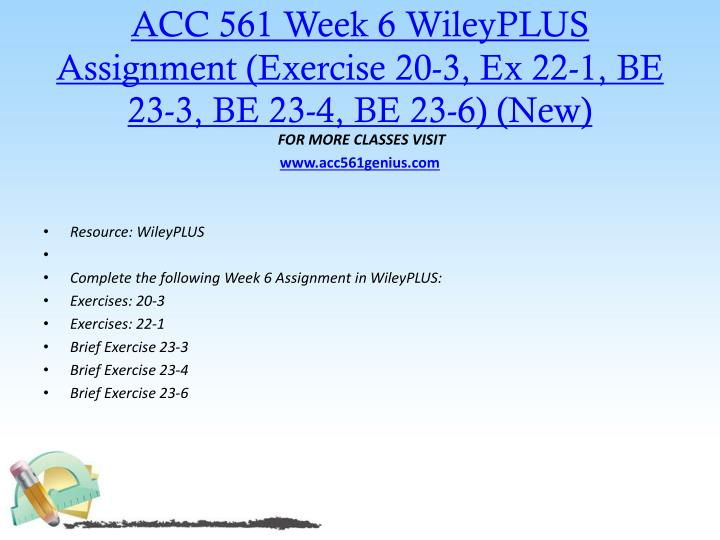 ACC 561 Week 6
