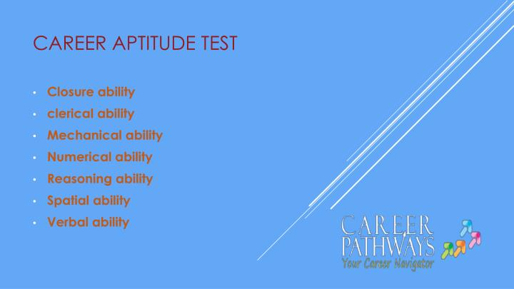 Career aptitude test