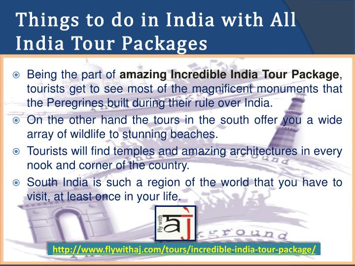 Things to do in India with All India Tour Packages