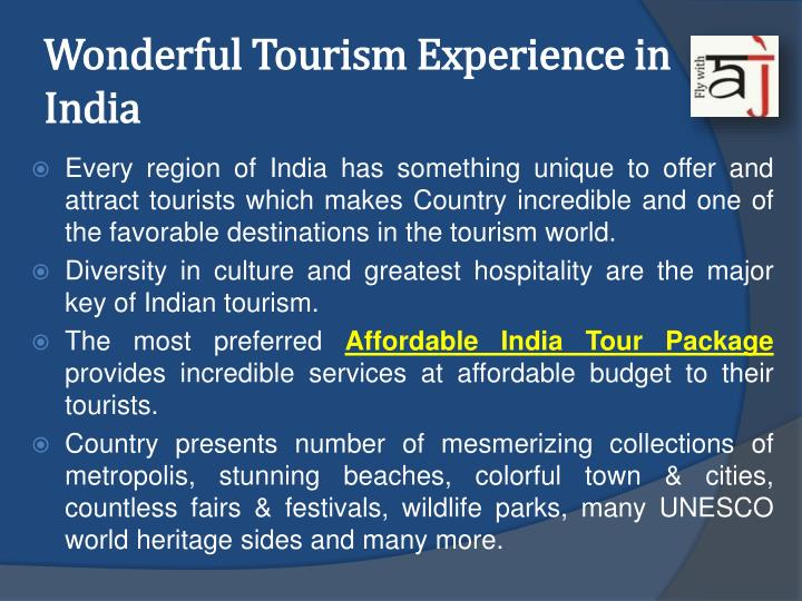 Wonderful Tourism Experience in India