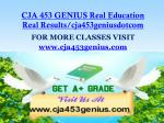 cja 453 genius real education real results cja453geniusdotcom1