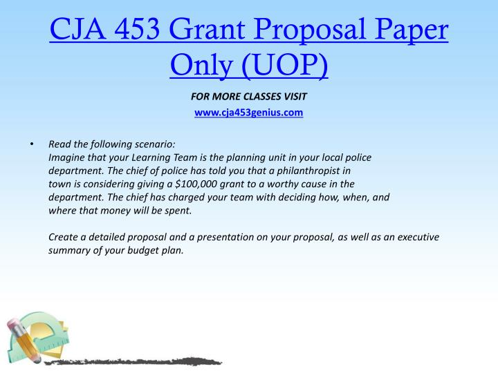 CJA 453 Grant Proposal Paper Only (UOP)