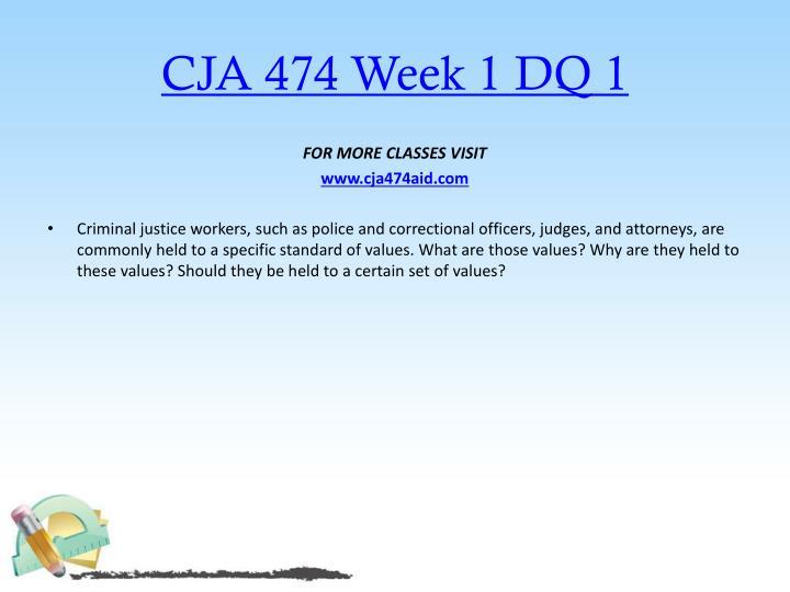 CJA 474 Week 1 DQ 1
