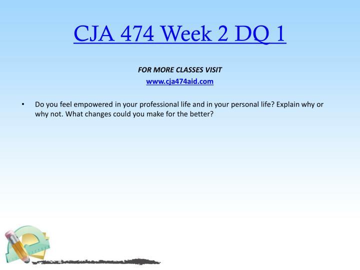 CJA 474 Week 2 DQ 1