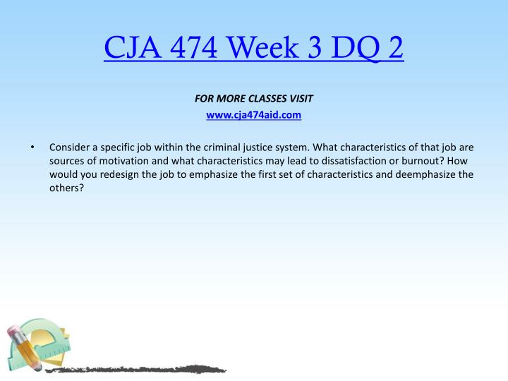 CJA 474 Week 3 DQ 2
