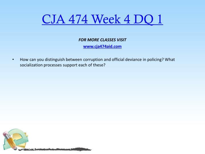 CJA 474 Week 4 DQ 1