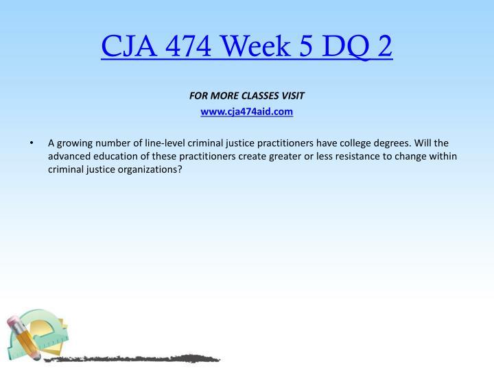 CJA 474 Week 5 DQ 2