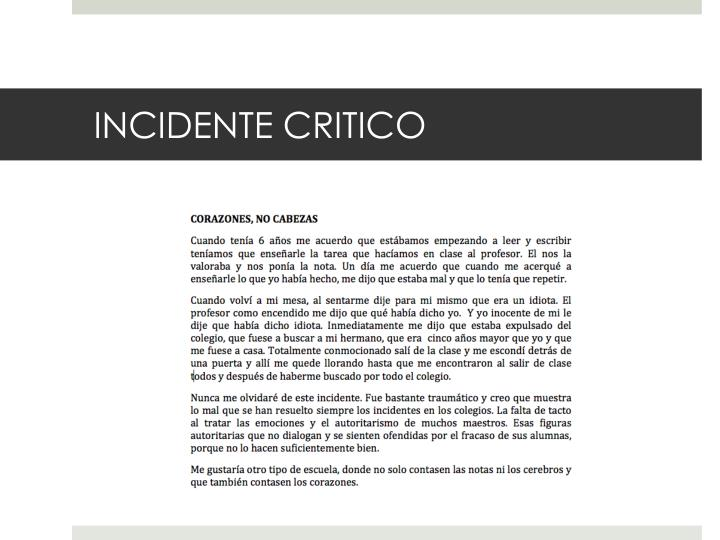 INCIDENTE CRITICO