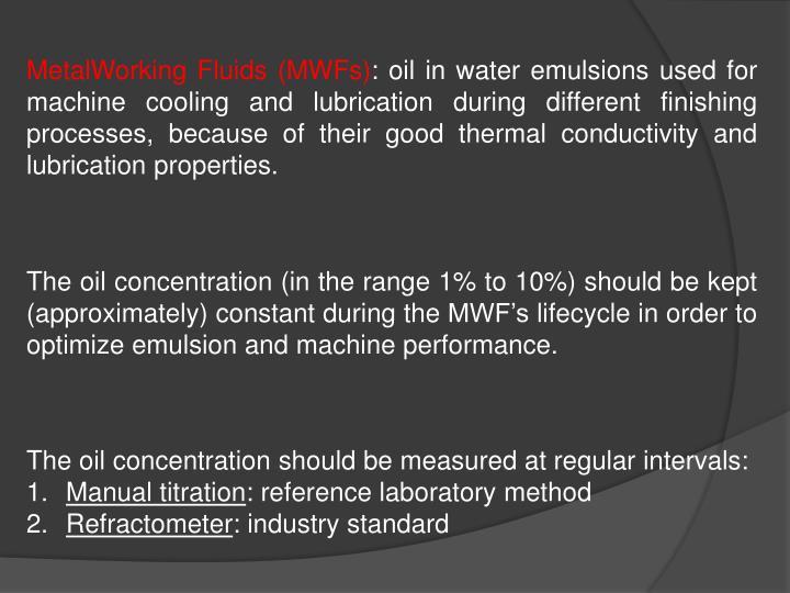 MetalWorking Fluids (