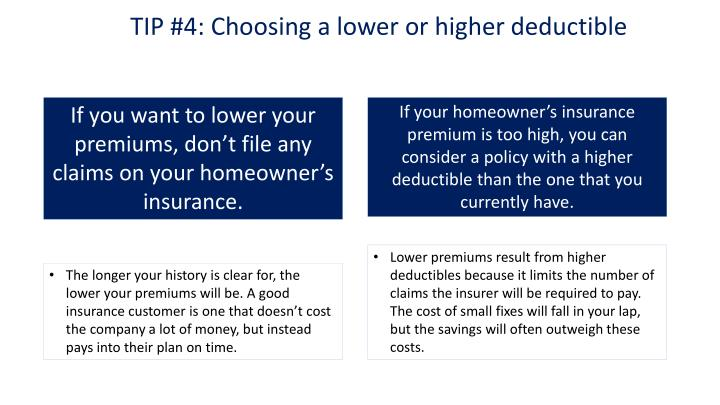TIP #4: Choosing a lower or higher