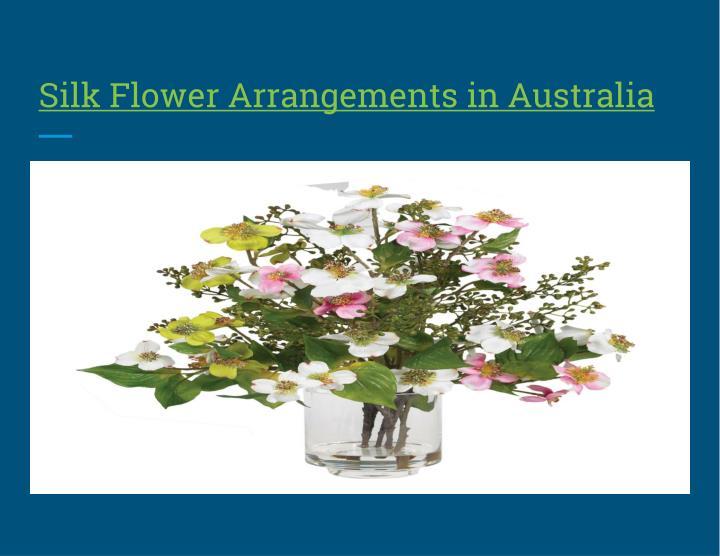 Silk Flower Arrangements in Australia