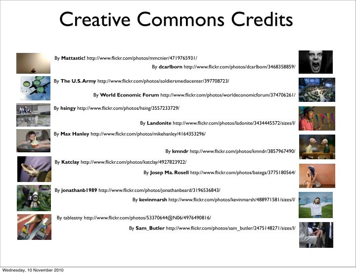 Creative Commons Credits