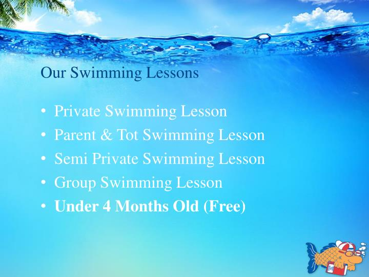 Our Swimming Lessons