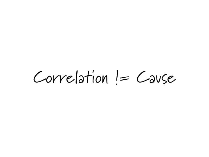 Correlation != Cause