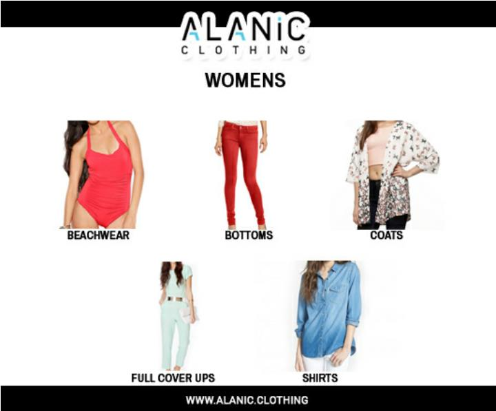 Alanic clothing wholesale mens clothing distributors