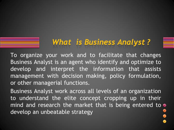 What is business analyst