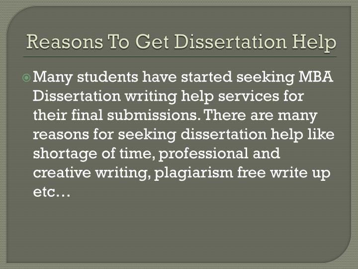 Dissertation writing assistance services